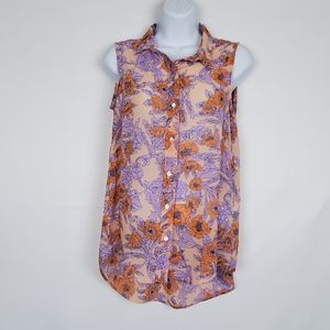 H&M Floral Button Down Shirt 4